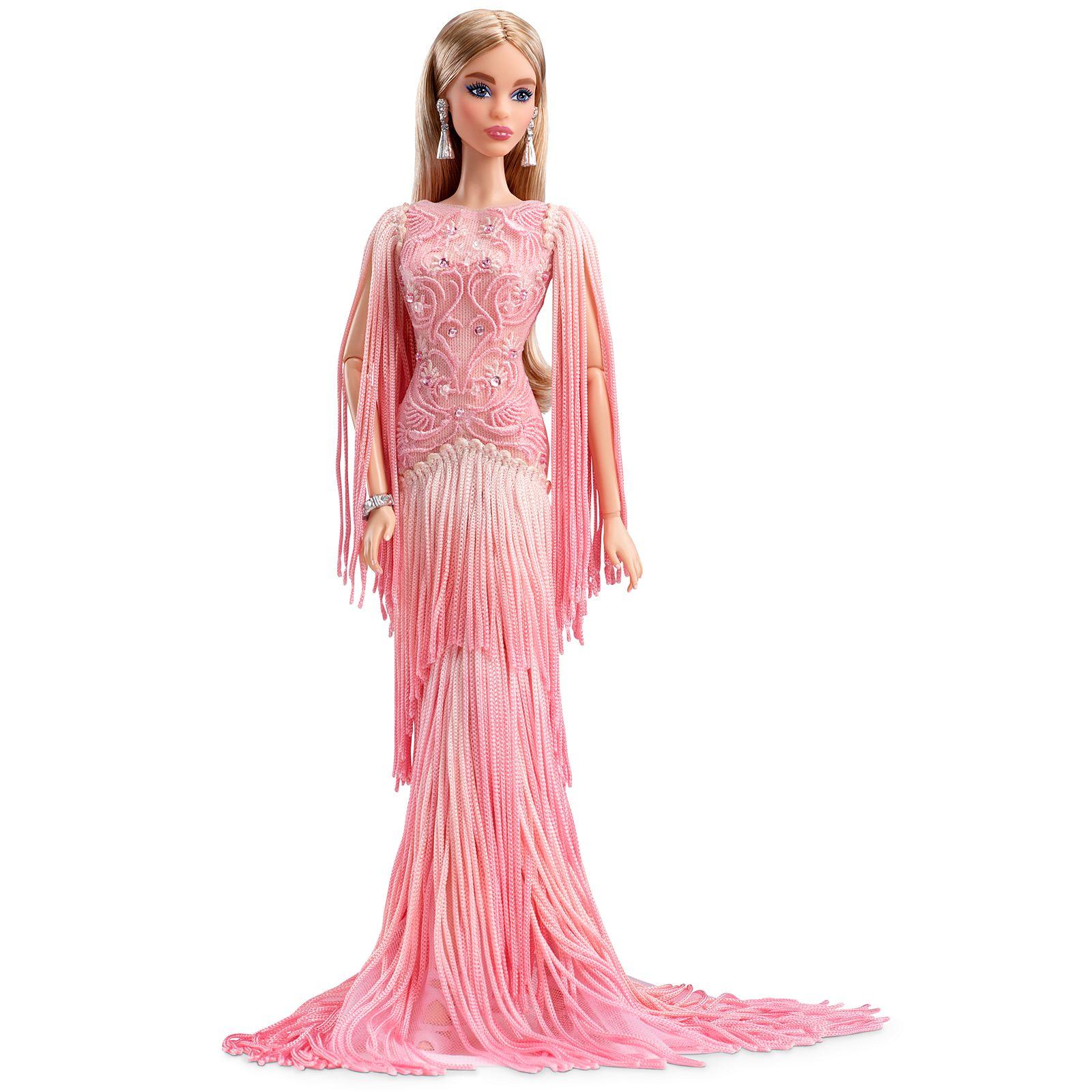 Blush Fringed Gown Barbie Doll