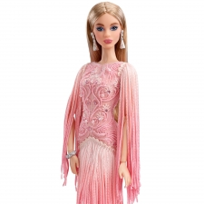 Blush Fringed Gown Barbie Doll