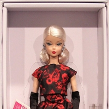 Elegant Rose Cocktail Dress Barbie Doll