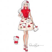 Barbie Hello Kitty Doll - Sketch by Robert Best