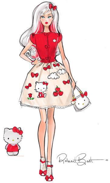Barbie Hello Kitty Doll - Robert Best Illustration