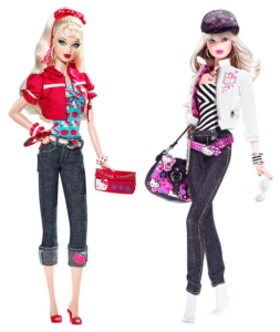 Hello Kitty Barbie Dolls 2008 and 2007