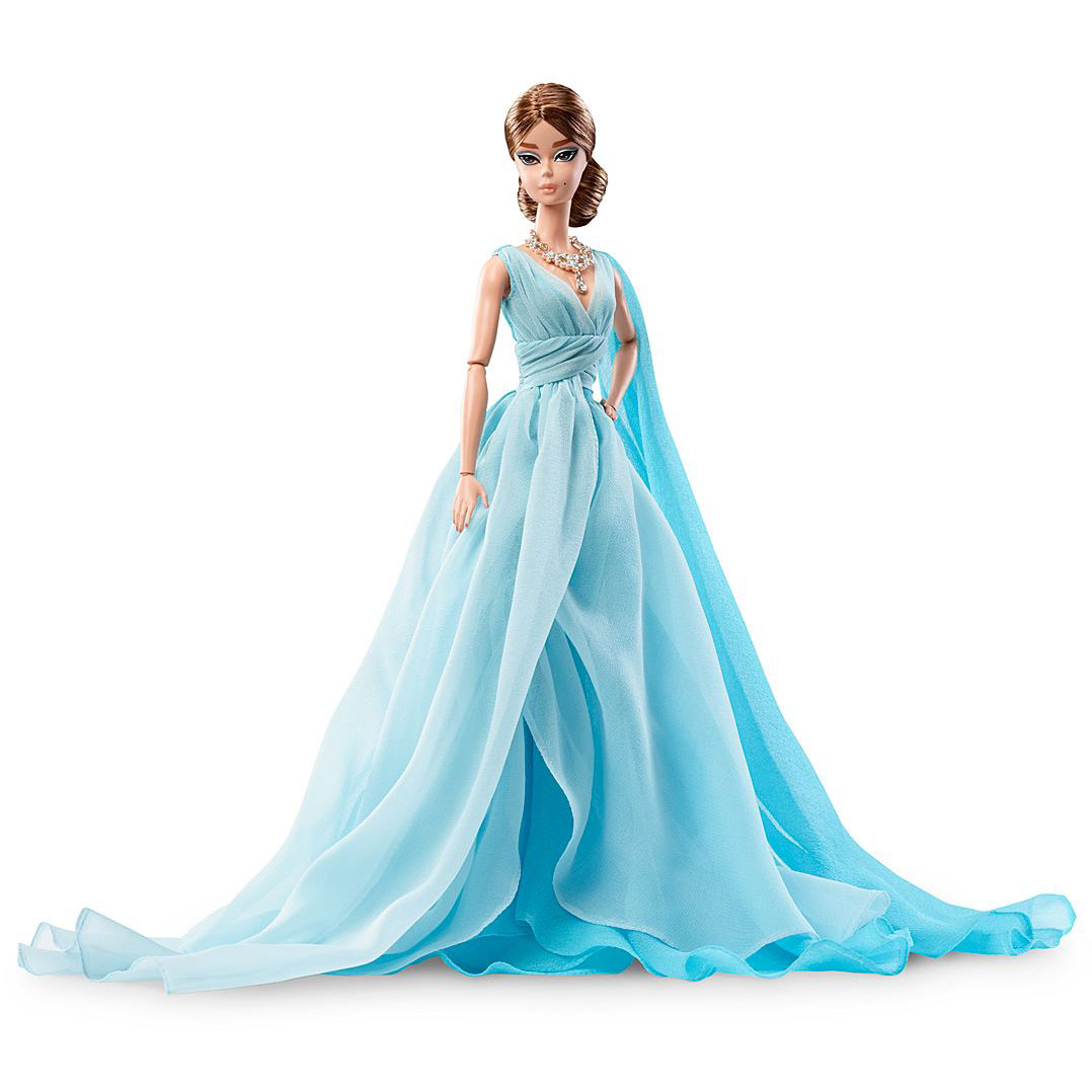 Blue Chiffon Ball Gown Barbie Doll - Perfectory Barbie Edition