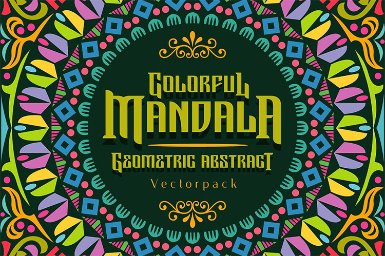 Colorful Mandala Abstract Geometric