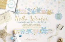 Hello Winter Sparkling Snowflakes Collection
