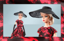 Barbie Fashion Model Collection Elegant Rose Cocktail Dress Barbie Doll